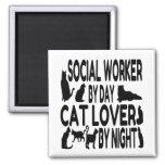 Cat Lover Social Worker Fridge Magnet