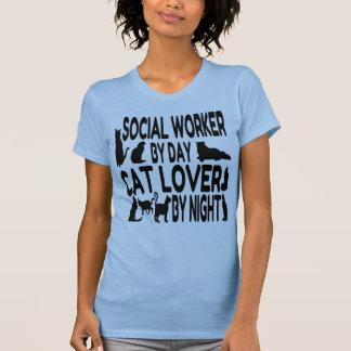 Cat Lover Social Worker T-Shirt