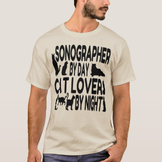 Cat Lover Sonographer T-Shirt