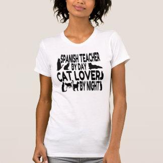 Cat Lover Spanish Teacher T-Shirt