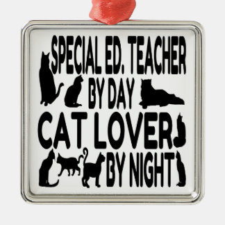 Cat Lover Special Education Teacher Christmas Ornament