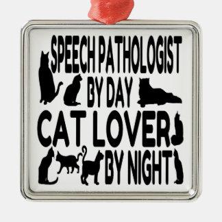 Cat Lover Speech Pathologist Christmas Ornament