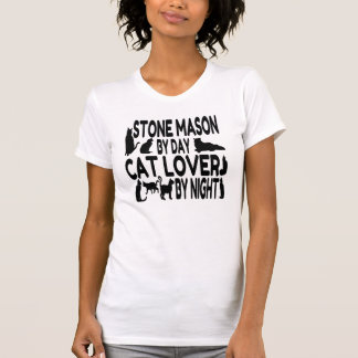 Cat Lover Stone Mason T-Shirt