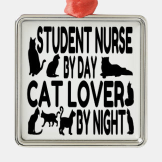Cat Lover Student Nurse Christmas Ornament