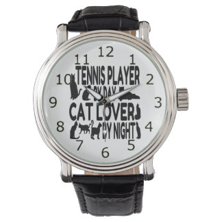 Cat Lover Tennis Player Watch