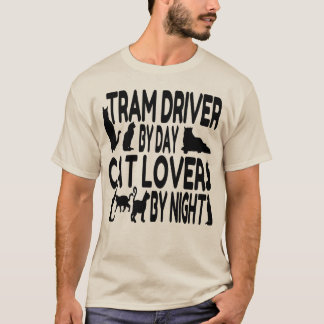 Cat Lover Tram Driver T-Shirt