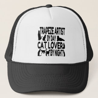 Cat Lover Trapeze Artist Trucker Hat