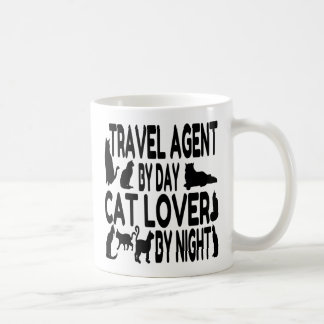 Cat Lover Travel Agent Coffee Mug