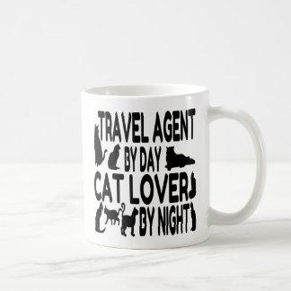 Cat Lover Travel Agent Basic White Mug