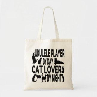 Cat Lover Ukulele Player Budget Tote Bag