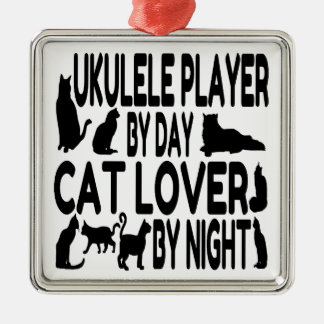 Cat Lover Ukulele Player Christmas Ornament