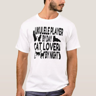 Cat Lover Ukulele Player T-Shirt