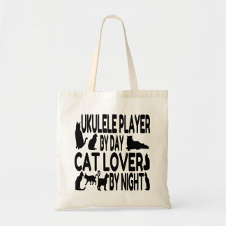 Cat Lover Ukulele Player Tote Bag