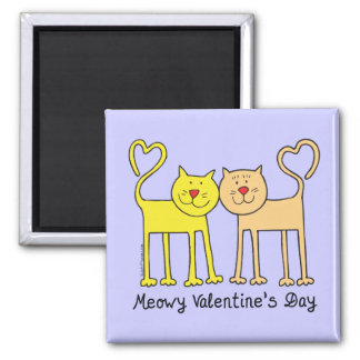 Cat Lover Valentines Day T-shirts Gifts Square Magnet