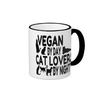 Cat Lover Vegan Ringer Mug