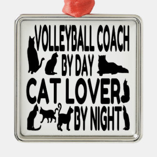 Cat Lover Volleyball Coach Christmas Ornament