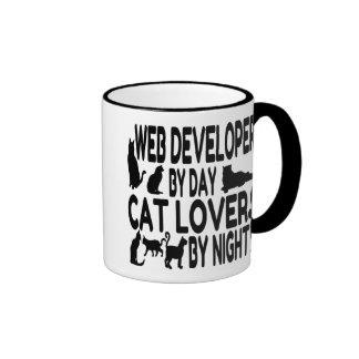Cat Lover Web Developer Coffee Mugs