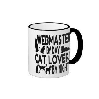 Cat Lover Webmaster Ringer Coffee Mug