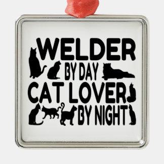Cat Lover Welder Christmas Ornament