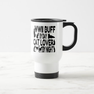 Cat Lover WWII Buff Stainless Steel Travel Mug