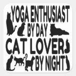 Cat Lover Yoga Enthusiast Sticker