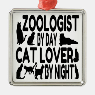 Cat Lover Zoologist Christmas Ornament