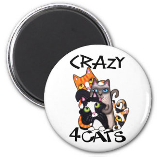 Cat Lover's 6 Cm Round Magnet