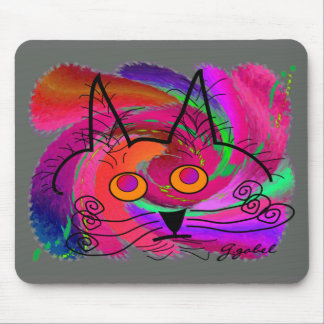 Cat Lovers abstract art gifts Mouse Mats