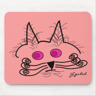 Cat Lovers Abstract Art Gifts Mouse Pad