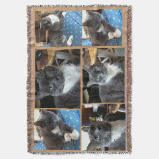 """Cat Lovers Bay"" Throw Blanket"