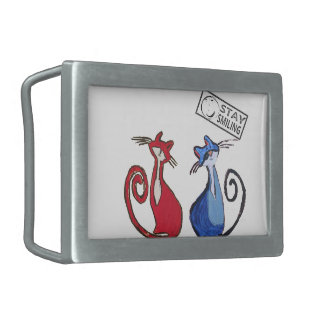 Cat Lovers Belt Buckle