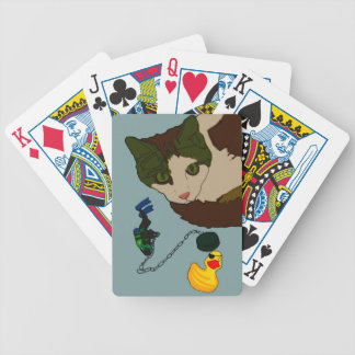 "Cat Lovers, ""Cat in a bath"" Bicycle Playing Cards"