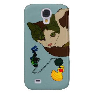 """Cat Lovers, """"Cat in a bath"""" Galaxy S4 Case"""