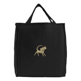 Cat Lovers Embroidered Tote Bag