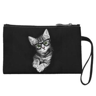 Cat Lover's Hipster Kitty Mini Clutch Bag Wristlet