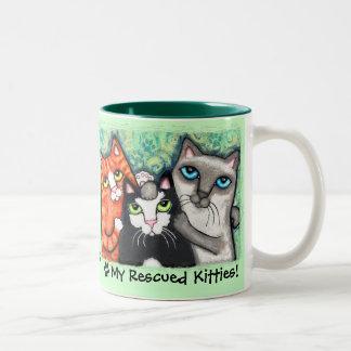 Cat Lover's Rescued Kitty Mug