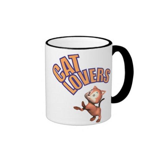 Cat Lovers Sign Coffee Mugs