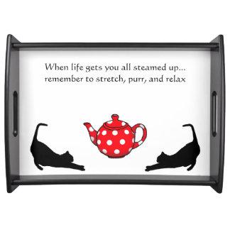 Cat lover's tea tray