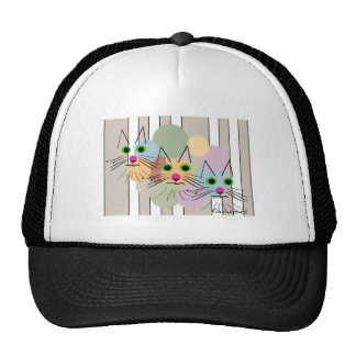 "Cat Lovers ""Three Amigos"" Cat Art Trucker Hat"