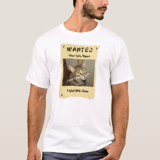 Cat Lover's Wanted Poster T-Shirt