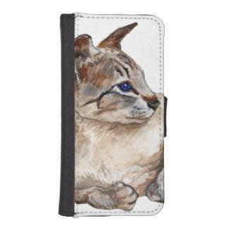 cat lying down phone wallet case