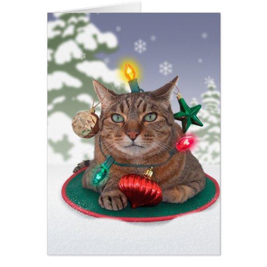 Cat-mas Tree Christmas Card