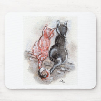 Cat mates mouse pad