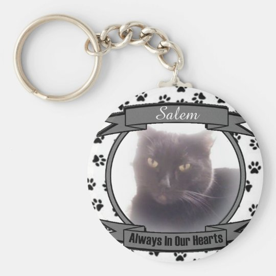 Cat Memorial Always In Our Hearts Key Ring