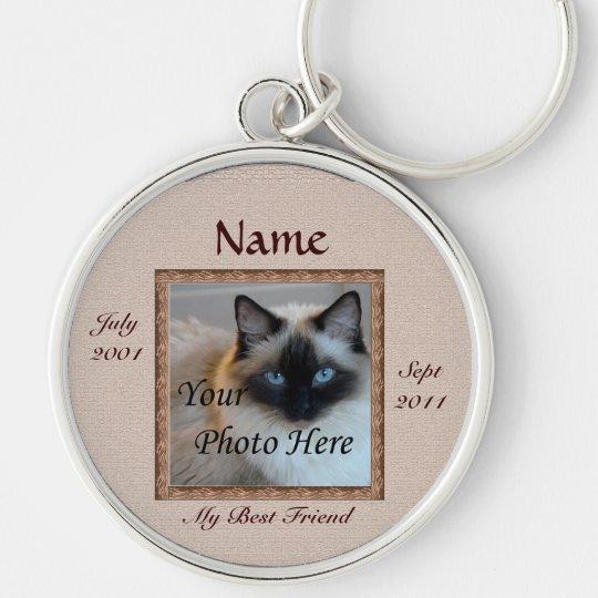 Cat Memorial Brown Tones Custom Photo Pet Loss