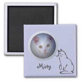 Cat Memory Add a Photo Square Magnet