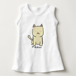 Cat Meow Baby Sleeveless Dress