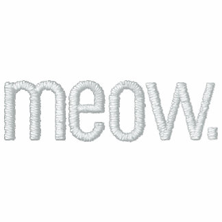 Cat Meow Ladies Embroidered Long Sleeve