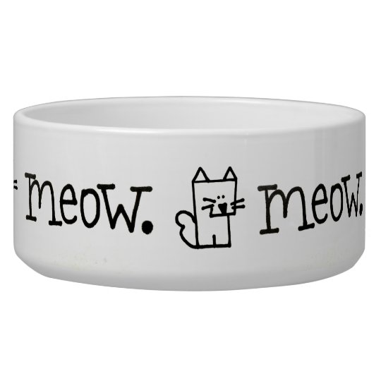 Cat Meow Meepple Ceramic Pet Bowl