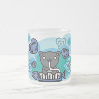 Cat_Method Frosted Glass Coffee Mug